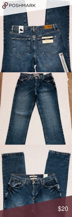 "Tommy Hilfiger NWT Womens Boyfriend Jeans Size 8R New with tags Tommy Hilfiger Womens Boyfriend Jeans in Size 8R. Straight leg. Medium wash. 100% cotton. Zipper with one button closure.  Measurements: hip to hip-20 3/4""; rise-10 1/2""; waist lying flat-16""; inseam-31"" All of my items come from a clean, smoke free home and I ship within one business day. Tommy Hilfiger Jeans Boyfriend"
