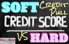 Your credit is accessed in one of two ways - a hard credit pull and a soft credit pull. It's important to know the difference. See what they are and how they affect your credit score. http://freefrombroke.com/the-difference-between-a-hard-credit-pull-and-a-soft-credit-pull/