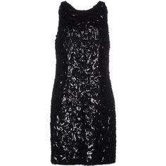 Zuhair Murad Short Dress ($3,895) ❤ liked on Polyvore featuring dresses, black, black sleeveless dress, short dresses, black sleeveless cocktail dress, sequin dress and mini dress