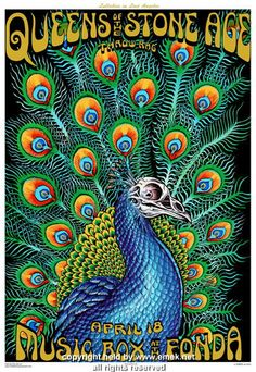 Queens of the Stone Age w/ Throw Rag - LA concert poster (click image for more detail) Artist: EMEK Venue: Henry Fonda Theatre Location: Los Angeles, CA Concert Date: 4/18/2005 Edition: signed and num