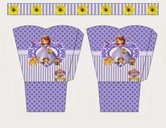 Sofia the First Free Printable Basket.
