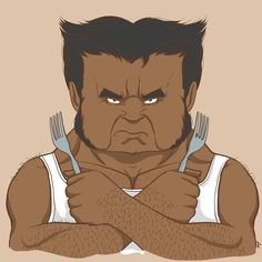 Wolverine's shoulder hair game is on point. | This Is What American Superheroes Would Look Like If They Were Indian