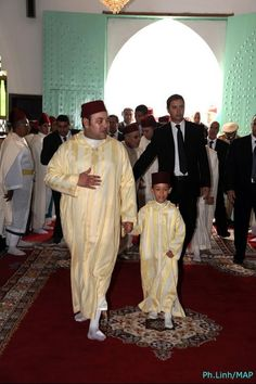 The King Mohamed VI and his son HRH Crown Prince Moulay Hassan