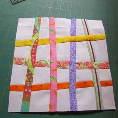 Just One More Stitch: Tutorial - Woven Strings block