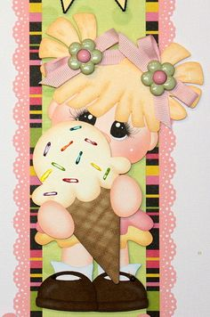 """Sweet Summer Treats"" vertical border for scrapbook pages."