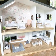 "937 Likes, 55 Comments - Whimsy Woods Designs. (@whimsy_woods) on Instagram: ""This house Our Whimsy Luxe Dollhouse styled up by the brilliant @hudson_and_harlow. I hope…"""