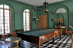 """coleoftheforest: """"Chateau Malmaison, Salle de Billard, Josephine bought this house for herself and her husband Napoleon Bonaparte while he was campaigning in Egypt;"""