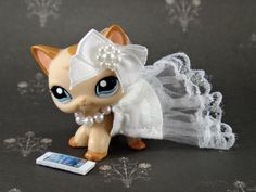 Custom #39 Wedding Day in Pearls Outfit Accessories Littlest Pet Shop LPS Dress Cloths by KrissLittleKreations on Etsy