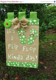 20% OFF TODAY Flip Flop Garden Flag* Burlap Garden Flag* Summer Garden Flag Polka Dot Garden Flag* Yard Flag * Garden Decor