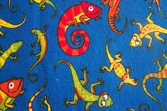 Reststücke COUPON  Swafing Chamäleon Gecko bunter Farbenmix Baumwolljersey