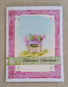 Contagiously Crafty - Birthday Card with Art Impressions Watercolor Stamp Sets