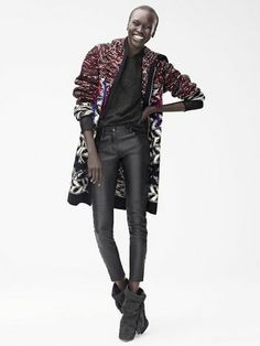 Isabel Marant x H&M. That chunky cardigan!