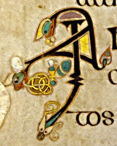 Book of Kells - initial letters I A