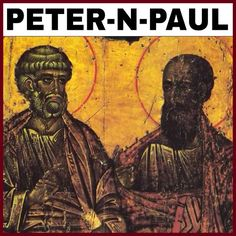 """A DEPICTION OF PETER AND PAUL DURING THE DARK AGES. THESE ARE THE WORDS OF PAUL: """"2 Corinthians 11:22 (KJVA) Are they Hebrews? so am I. Are they Israelites? so am I. Are they the seed of Abraham? so am I. """" PAUL WAS A (BLACK) ISRAELITE WHO WENT..."""