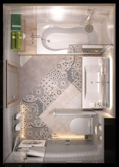 Bathroom some ideas, bathroom remodel, master bathroom decor and master bathroom organization! Bathrooms could be beautiful too! From claw-foot tubs to shiny fixtures, these are the master bathroom that inspire me the essential. Small Space Design, Bathroom Design Small, Bathroom Colors, Bathroom Interior Design, Small Spaces, Small Bathrooms, Bathroom Designs, Master Bathrooms, Marble Bathrooms