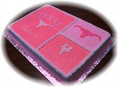 Pink Texas Longhorn By TxBama on CakeCentral.com