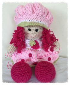 Strawberry Shortcake crochet doll handmade doll by KabedDesigns