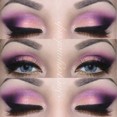 Details of my Rapunzel look   Dettaglio del mio trucco di Rapunzel  I used/ho usato: Route66, Jet Lag e Casa Delight from the palette by @Giuliana Cesare Cesare Arcarese for Neve; Purple from the Blushprofessional 120 matte palette; Black Sheep (black) and Liquid Mirror (gold) by Neve; Gold glitter with no name; Elf eyeliner; Josie eyelashes by @lepetitlapinlashes ; Lenses are Sky by @pinkyparadisedotcom ; Brows are @anastasiabeverlyhills Brow powder duo in Medium Brown.  - @surgerymakeup…