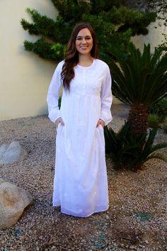 56a06f131bfc7 Daylily - A Dressy Occasion Modest White Dress