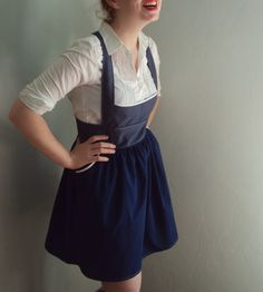 overall dress! Gah THIS I want.