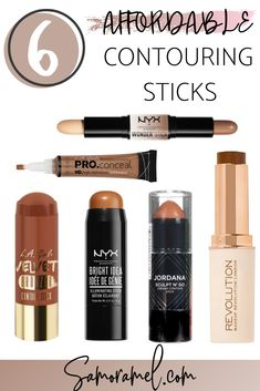 6 affordable contouring sticks, worth the buy! Plus 5 helpful tips while contouring. #beauty #affordablebeauty #contouringsticks #contour #drugstoreproducts #drugstorebeauty