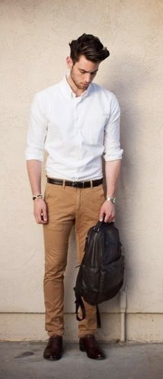 Brown Pants Outfit Men Collection white shirt with pant for men men fashion mens clothing Brown Pants Outfit Men. Here is Brown Pants Outfit Men Collection for you. Brown Pants Outfit Men white shirt with pant for men men fashion mens cloth. Mode Masculine, Male Fashion Trends, Mens Fashion, Trendy Fashion, Fashion Menswear, Fashion Updates, Style Fashion, Stylish Men, Men Casual
