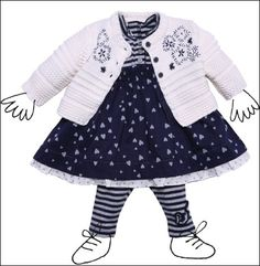Absorba Clothing For Kids Frock Kids Frocks, House Tours, Minis, Autumn Fashion, Winter, Clothing, Dress Patterns, Winter Time, Outfits