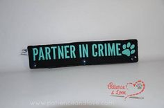1 Partner in Crime with paw print, leash sleeve, snap on, 2 lines of text on each side Service Dog Patches, Service Dogs, Psychiatric Service Dog, I Need Space, Dog House Plans, Police Dogs, Partners In Crime, Dog Leash, Animals And Pets