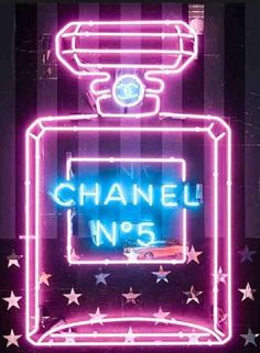 Neon CHANEL. @thecoveteur