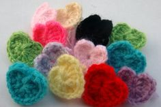 crochet hearts set of 20 by mylittlebows