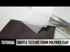 DIY How to make Handmade Waffle texture from polymer clay and how you can use it - YouTube