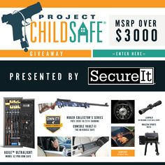 Join us and Project Child Safe in promoting firearms safety. We are proud to be a sponsor of such an important cause. Enter in the contest for a chance to win one of our Agile 52 Pros and to help a great cause! Stay safe and always be prepared. The contest will run from October 1- December 1 2020