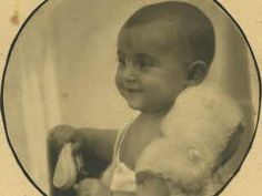Margot Frank as a baby