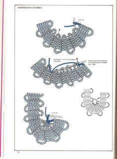 motivi crochet tecnica: Bruges Spiegazioni 4