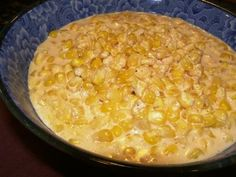 Rudy s Creamed Corn from Food.com:   								A sweet tasty temptation to anyones tongue. Delicious. This recipe has been reduced in fat and calories from the original.-- very good!!