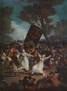 Francisco de Goya - El Entierro de la Sardina