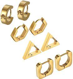 Fashion Rings, Men's Fashion, Triangle Square, Ear Studs, Diamond Studs, Cartier, Black Gold, Jewelery, Silver Jewelry