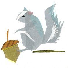Cornelius Squirrel  Animal Art Print by TinyFawn on Etsy, $18.00