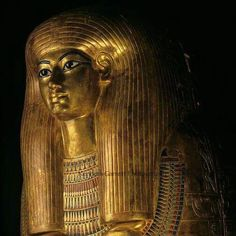 Gilded coffin of Tjuya,KV 46; Valley of the Kings;reign of Amenhotep III.