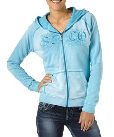 Look at this Silver Jeans Co. Blue French Terry Zip-Up Hoodie on #zulily today!