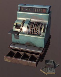 Cash register (UE3), Michał Kubas on ArtStation at https://www.artstation.com/artwork/cash-register-ue3
