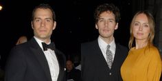 Henry Cavill & Sam Claflin both looked so handsome in their tuxedos last night! More pics: http://jus.tj/1244