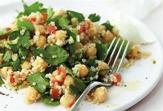 Anjum Anand's herby quinoa and chickpea salad