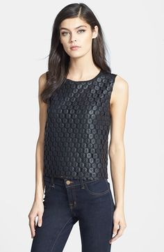 Trouve Trouvé Coated Lace Shell available at #Nordstrom