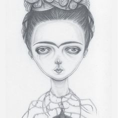 Frida    Hugs all, especially my fellow #sickgirlsclub warriors. #sickgirlssticktogether   #frida #fridakahlo #fridakahlomagazine #sickgirlsclub #drawing #graphite #illustration #lowbrowart #popsurrealart #monobrow #instartoftheday #samcrowart #myalgicencephalomyelitisartist #...