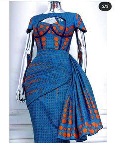 African Fashion Ankara, Latest African Fashion Dresses, African Dresses For Women, African Print Dresses, African Print Fashion, Africa Fashion, African Attire, Ankara Styles For Women, Ghanaian Fashion