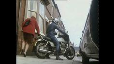 Funny Moto Guzzi scene from 'Open All Hours' TV show