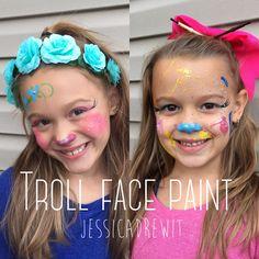 Trolls face paint