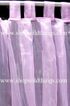 Wild Things Is Pleased To Add A New Line Of Fantabulous Sheer Polyester  Tissue Organza Tab. Curtain PanelsCurtainsWild ...