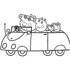 """""""Peppa Pig"""" show revolves around Peppa, an anthropomorphic female pig & her life with her family & friends. Check 15 free printable peppa pig coloring pages"""